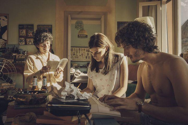 "Giovanni Toscano, Irene Vetere et Mauro Lamantia dans ""Nuits magiques"" de Paolo Virzi. (PAOLO CIRIELLO / Bac Films)"