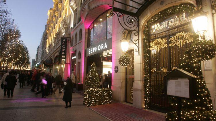 L'hôtel Marriott, sur les Champs-Elysées, à Paris, le 15 décembre 2006. (  MAXPPP)