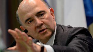 Le ministre de l'Economie, Pierre Moscovici, lors d'une conférence de presse à Moscou (Russie), le 19 juillet 2013. (KIRILL KUDRYAVTSEV / AFP)