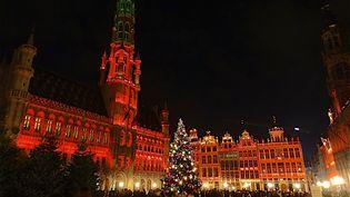 La Grand place de Bruxelles, le 26 novembre 2020. (PATRICK LEFEVRE / MAXPPP)