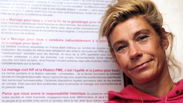 Frigide Barjot, une des principales figures de l'opposition au mariage homosexuel, le 13 décembre 2012 à Paris. (FRANCOIS GUILLOT / AFP)