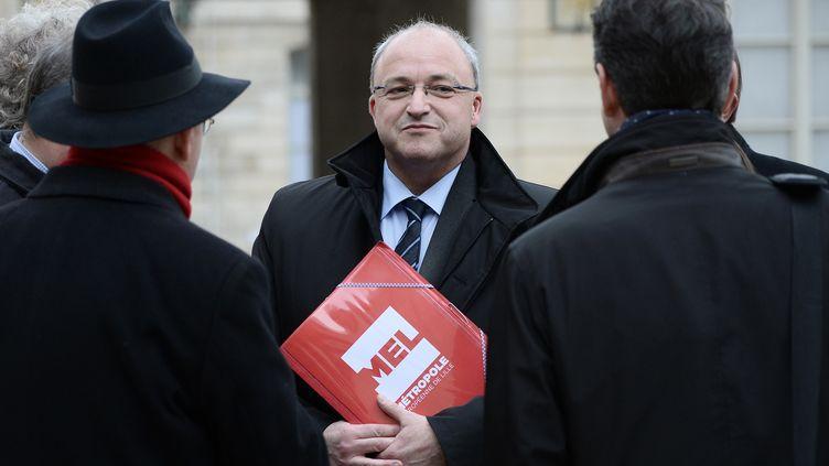 """Le président de la Métropole Européenne de Lille Damien Castelain a jugé la décision du CNOSF """"incompréhensible"""" (STEPHANE DE SAKUTIN / AFP)"""