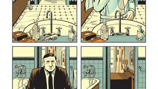 """Page intérieure de """"Lino Ventura, l'oeil de verre"""", d'Arnaud Gouëfflec et Stéphane Oiry (Stéphane Oiry / Glénat)"""