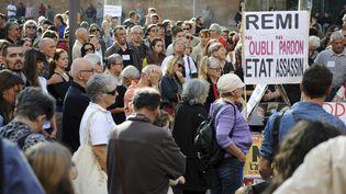 Manifestation en hommage à Rémi Fraisse, le 27 octobre 2014 à Albi (Tarn). (REMY GABALDA / AFP)