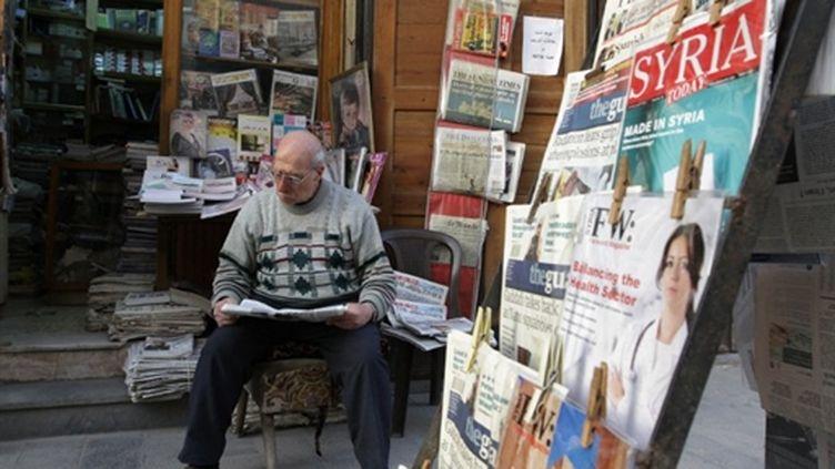 Marchand de journaux syrien, le 18 mars 2011 à Damas. (AFP/STR)