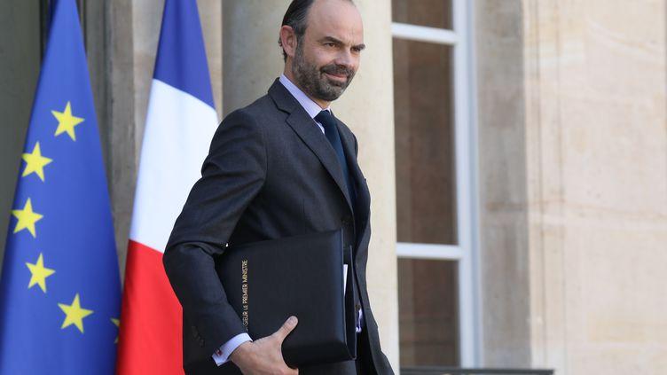Le Premier ministre, Edouard Philippe, à l'Elysée, le 14 mars 2018. (LUDOVIC MARIN / AFP)