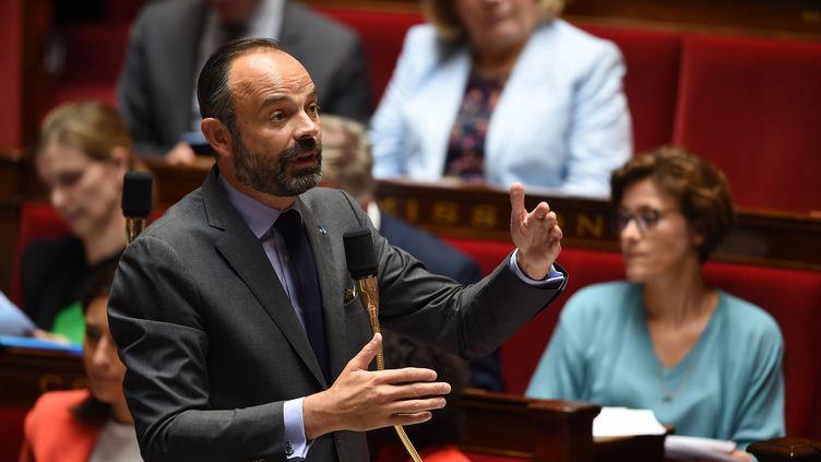Le Premier ministre, Edouard Philippe, lors de la séance de questions au gouvernement à l'Assemblée nationale, le 4 juin 2019. (LUCAS BARIOULET / AFP)