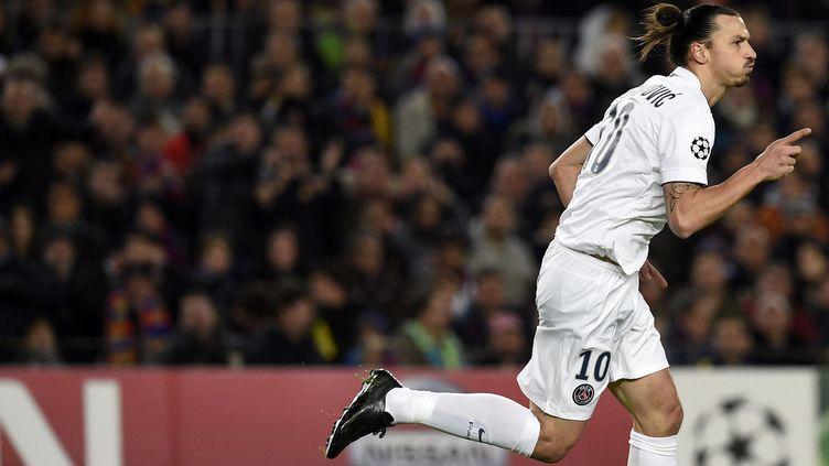 Zlatan Ibrahimovic, seul représentant de L1 dans l'équipe-type (LLUIS GENE / AFP)