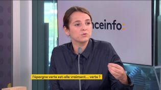 Eva Sadoun, coprésidente du mouvement patronal Impact France. (FRANCEINFO / RADIO FRANCE)