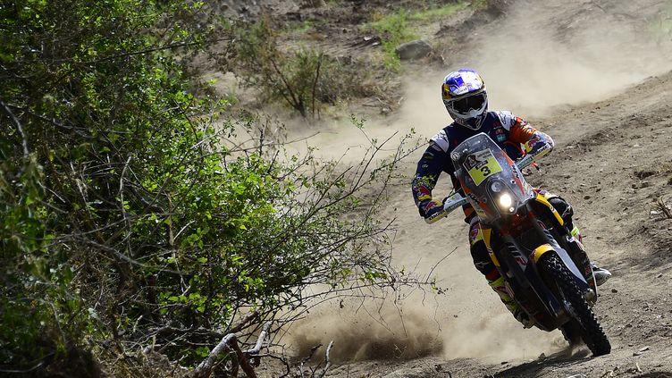 Toby Price s'est adjugé le premier Dakar de sa carrière  (FRANCK FIFE / AFP)