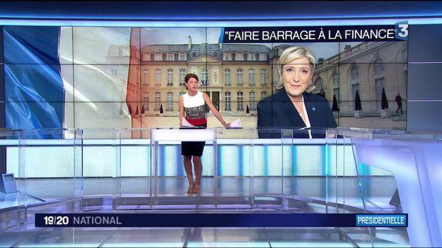 """Meeting à Villepinte : Marine Le Pen étrille Macron, """"candidat de la finance"""""""