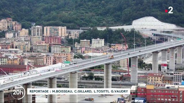 En Italie, l'inauguration du nouveau pont de Gênes