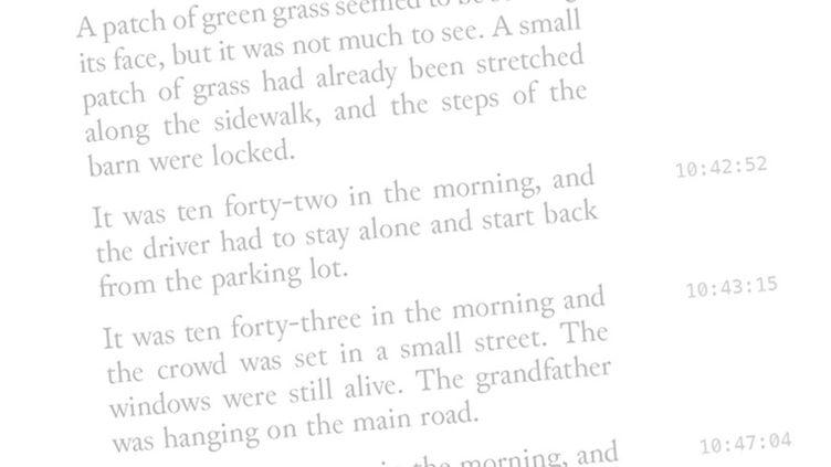 """Extrait de """"1 THE ROAD"""", livre écrit par une intelligence artificielle. (JEAN BOÎTE ÉDITIONS)"""