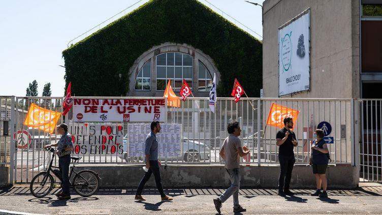 L'usine Renault de Choisy-le-Roi (Val-de-Marne), le 29 mai 2020. L'usine est menacée de fermeture par le plan d'économies annoncé par le constructeur. (MAXPPP)
