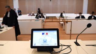 Une salle d'audience du tribunal de Paris, le 16 avril 2018. (ALAIN JOCARD / AFP)