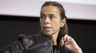 """Agnès Saal lors de la 20e édition du colloqueNPA-""""Le Figaro"""", le 21 octobre 2014, à Paris. (MAXPPP)"""