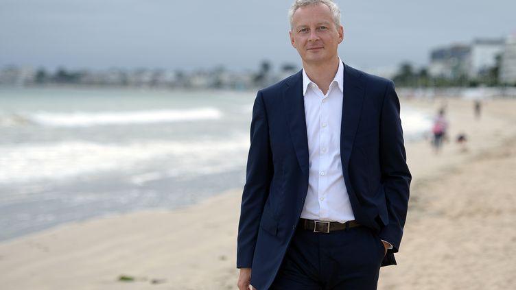 Bruno Le Maire, candidat à la primaire de la droite, le 3 septembre 2016 à La Baule (Loire-Atlantique). (JEAN-SEBASTIEN EVRARD / AFP)