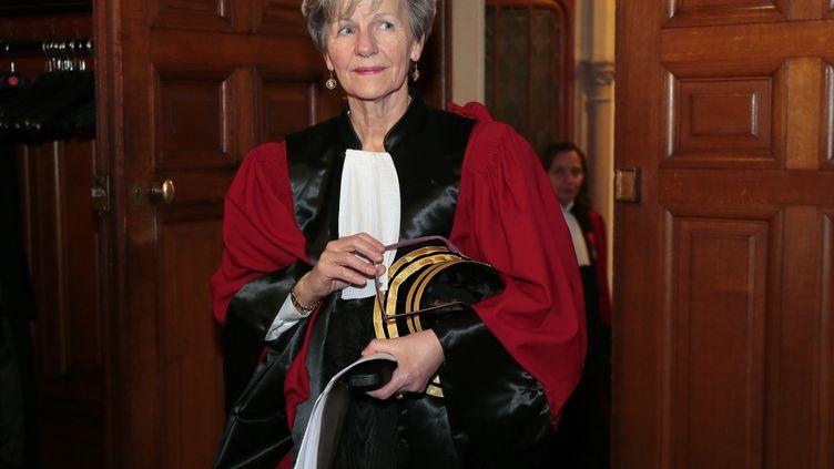 L'ex-procureure nationale financière, Eliane Houlette, le 3 mars 2014 à Paris. (JACQUES DEMARTHON / AFP)