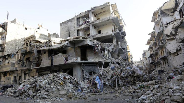Les vestiges de la ville d'Alep, le 21 janvier 2017. Alep reste l'un des symboles de l'opposition frontale entre rebelles et régimes syriens. (LOUAI BESHARA / AFP)
