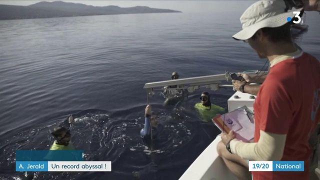 Record du monde d'apnée pour Arnaud Jerald