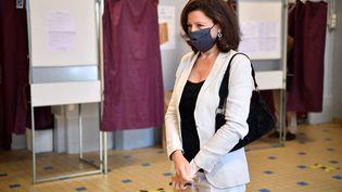 Agnès Buzyn, candidate de La République en marche aux élections municipales à Paris, le 28 juin 2020. (CHRISTOPHE ARCHAMBAULT / AFP)