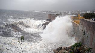 La Corse fait face à des vents violents, le 29 octobre 2018. (MAXPPP)