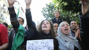 Des étudiants manifestent à Alger contre le pouvoir en place. (?ADEL SEHREI/WOSTOK PRESS / MAXPPP)