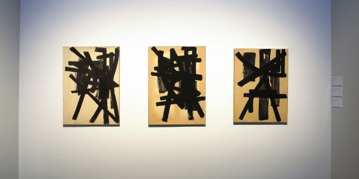 Peintures de Pierre Soulages exposées à l'ouverture du musée Soulages à Rodez  (GUY BOUCHET / PHOTONONSTOP)