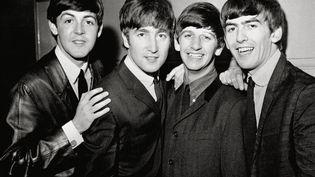 Les Beatles. De gauche à droite : Paul McCartney, John Lennon, Ringo Starr et George Harrisson, le 1er janvier 1963. (MAXPPP)