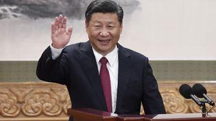 Le président chinois Xi Jinping à Pékin, le 25 octobre 2017. (WANG ZHAO / AFP)