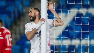 Karim Benzema et le Real Madrid ont arraché le match nul en toute fin de match face au FC Séville, dimanche 9 mai. (IRH / SPAIN DPPI)