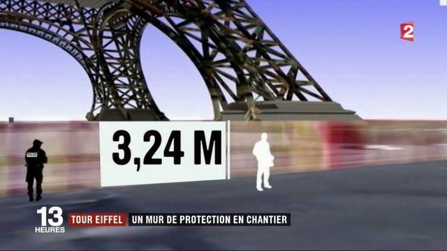 Tour Eiffel : top départ pour les travaux du mur anti-attentats !