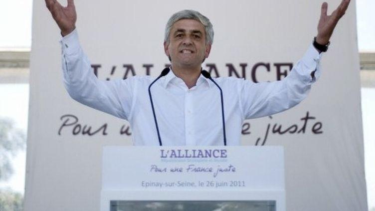 Hervé Morin lors de la Confédération des centres, à Epinay-sur-Seine, le 26 juin 2011. (AFP - Fred Dufour)