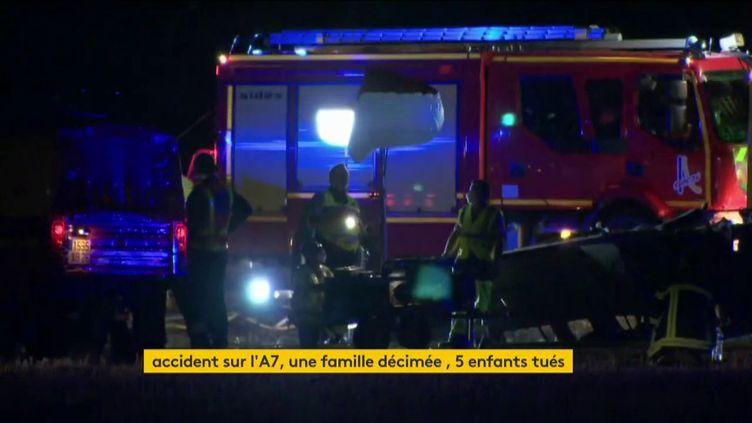 Un accident meurtrier sur l'A7 (FRANCEINFO)