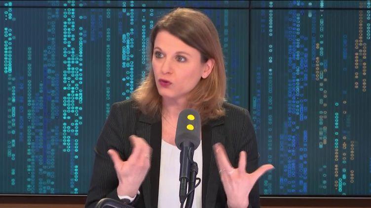 """La députée LREM des Hauts-de-Seine, invitée du """"8h30 politique"""", samedi 9 février 2019. (FRANCEINFO / RADIOFRANCE)"""