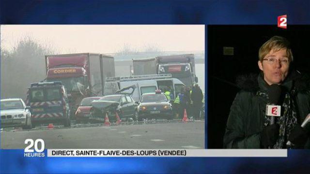 Carambolage meurtrier en Vendée : l'épais brouillard  certainement à l'origine des accidents