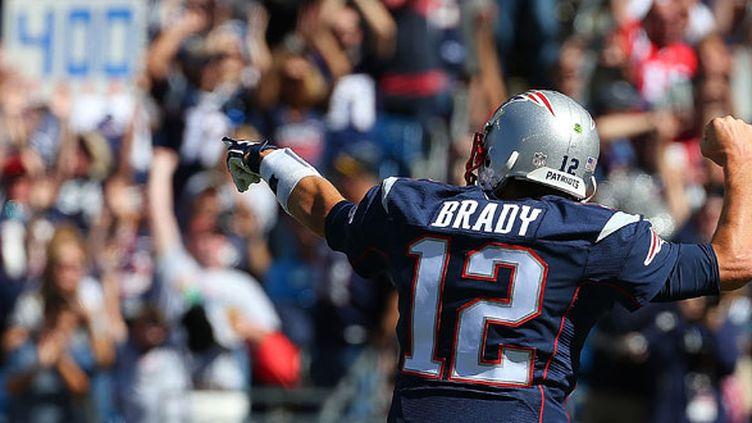 Le quaterback des New England Patriots, Tom Brady