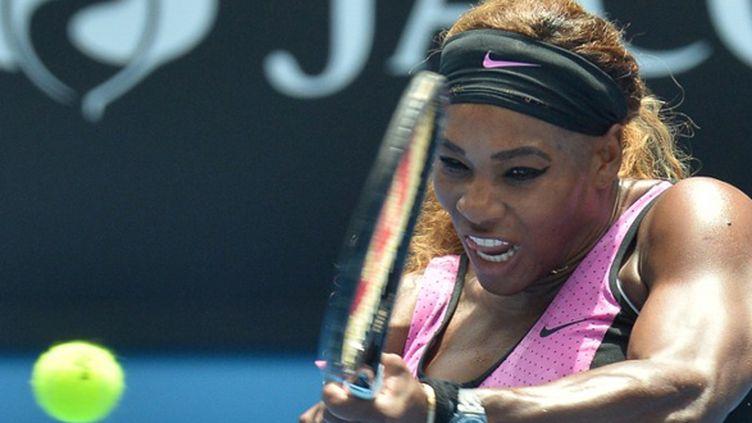 Serena Williams et sa légendaire puissance (PAUL CROCK / AFP)