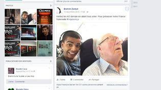 """Jean-Marie Le Pen attaque le danseur Brahim Zaibat pour ce selfie pris dans un avion, selon l'hebdomaire """"Public (BRAHIM ZAIBAT)"""