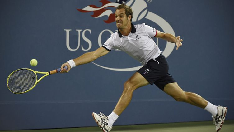 (Richard Gasquet sur le terrain de Flushing Meadows, à New York, face à Tomas Berdych © MaxPPP)