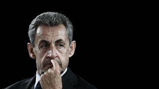 Nicolas Sarkozy à Paris le 8 octobre 2021. (PHILIPPE LOPEZ / AFP)