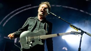 Matthew Bellamy, de Muse, sur scène à Munich le 29 mai 2015  (Sven Hoppe / dpa / picture-alliance / Newscom / MaxPPP)
