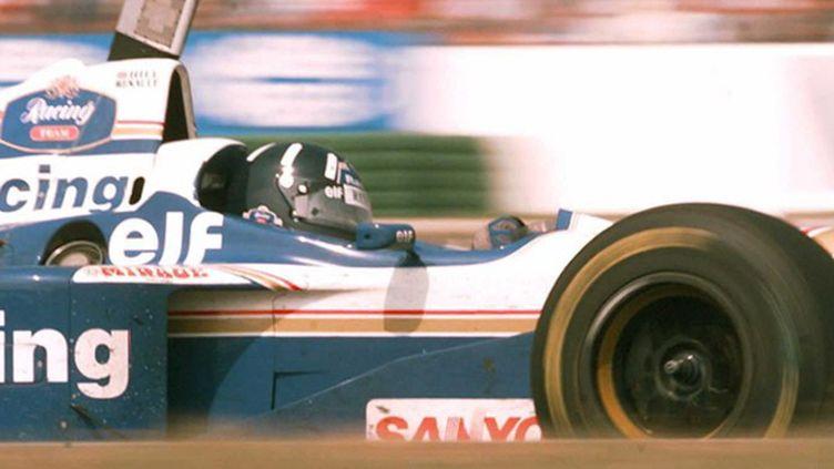 Damon Hill (Williams) lors du GP d'Allemagne 1996 (PATRICK KOVARIK / AFP)