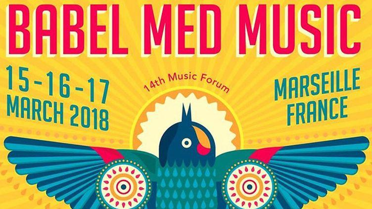 Détail de l'affiche de l'édition 2018 du festival marseillais Babel Med Music  (DR)