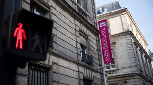 Le siège du PS rue de Solférino, à Paris. (MARTIN BUREAU / AFP)