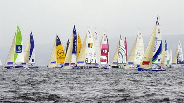 Les voiliers de la Solitaire du Figaro (DAMIEN MEYER / AFP)
