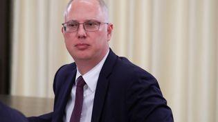 Le directeur du fonds d'investissement russe associé au développement du vaccin, Kirill Dmitriev, le 11 mars 2020 à Moscou (Russie). (MIKHAIL KLIMENTYEV / SPUTNIK / AFP)