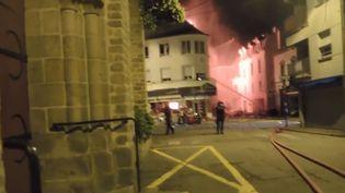 L'immeuble à explosé à Quiberon (Morbihan), à la suite d'une fuite de gaz. (FRANCE 3)