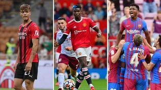 Daniel Maldini, Paul Pogba et Ansu Fati ont été des acteurs importants des championnats européens de football ce week-end. (AFP)