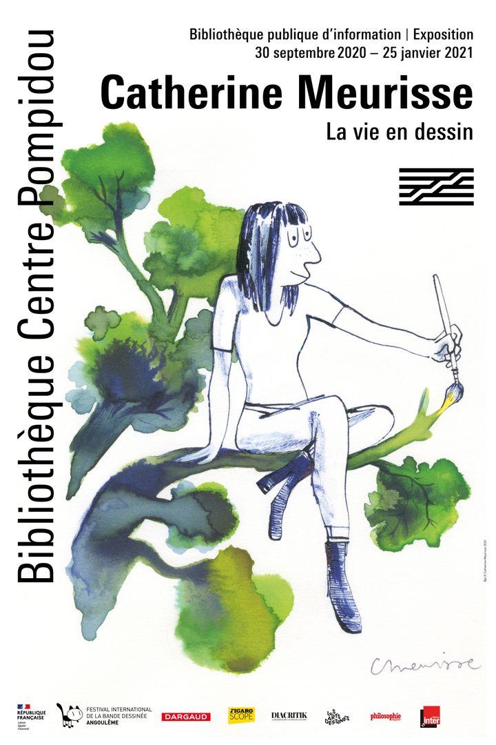 """Affiche de l'éxposition""""Catherine Meurisse- La vie en dessin"""", 2020 (BPI Centre Pompidou)"""
